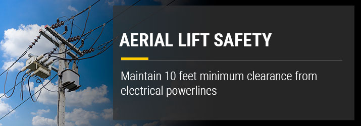 Aerial Lift Power Line Safety