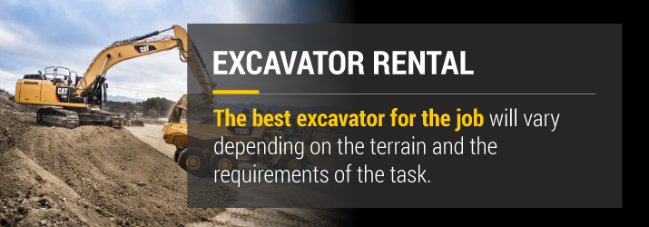 The best excavator rental for the job