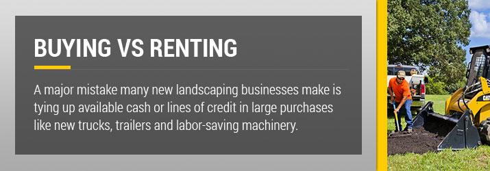 Landscaping Equipment Buy vs Rent