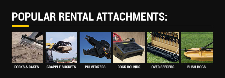 Landscaping Attachments Popular Rentals