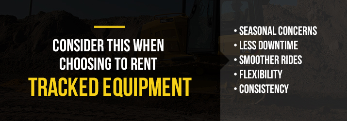 what to consider when choosing to rent tracked equipment