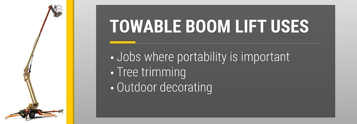 Towable Boom Lift Uses