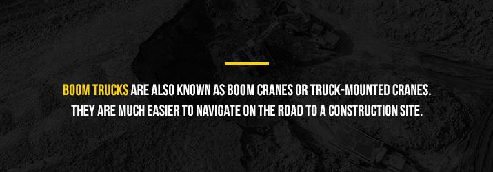 boom trucks or boom cranes