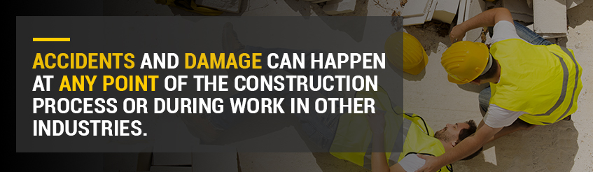 Accidents can happen at any point of the construction process.