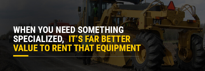 rent specialized equipment