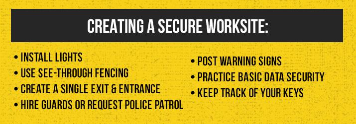 secure worksite
