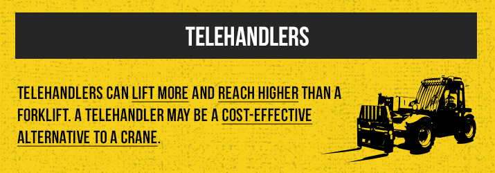 What telehandlers can do