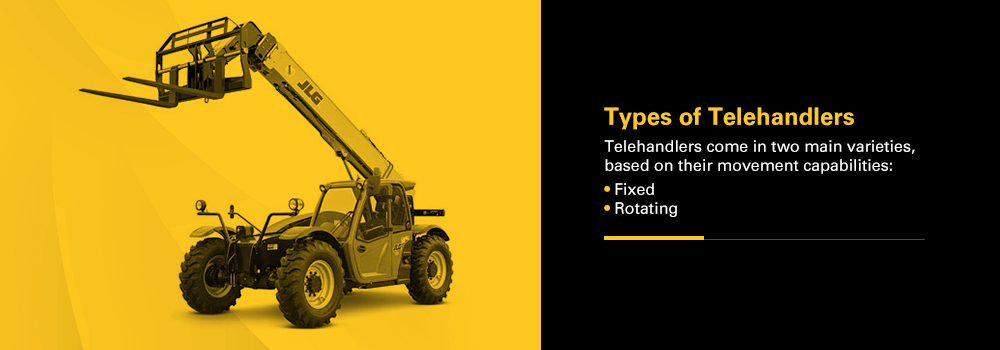types of telehandlers