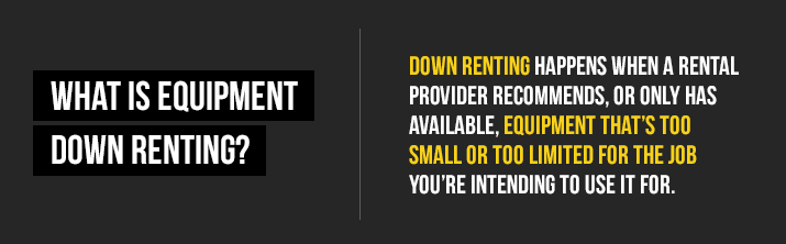what is down renting